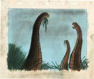 Fantasia Rite of Spring Brontosaurus Concept Art (Walt Disney, 1940).