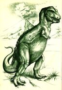 T-Rex In the Days of the Dinosaurs