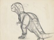 Drawing of T-rex 7