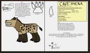 Dinatheen p animal info ref cave hyena by tyrannosaurus90s da875xj
