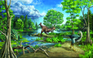 Late Cretaceous Dinosaur-Dominated Ecosystem