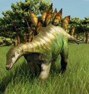 Stegosaurus stenops (Green Opal)
