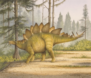 Stegosaurus Age of Dinosaurs Stencil Book