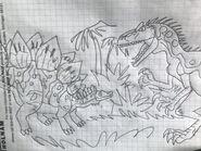 Stegosaurus vs allosaurus by rowserlotstudios1993 dedztw6