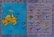 Australian Dinosaur Map
