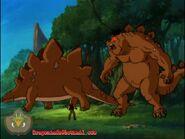 Giggles and Frazetti Merge With Stegosaurus Revert