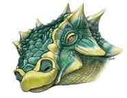 Life drawing of Zuul crurivastator head
