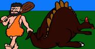 The Caveman and the Stegosaurus