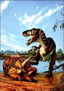 T-rex eating