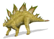 Art reconstruction of Stegosaurus stenops