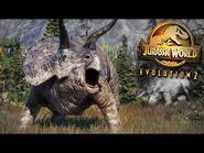 Jurassic World Evolution 2 - Triceratops - Species Field Guide HD