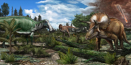Reconstruction of Late Cretaceous North America