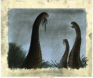 Fantasia Animation Brontosaurus Concept Drawing Original Art