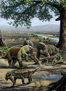 C0103944-Permian animals, artwork