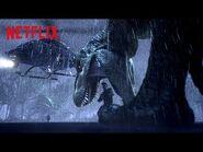 T-Rex Chopper Chase 🚁 Jurassic World Camp Cretaceous - Netflix Futures