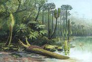 C0165346-Carboniferous landscape, artwork