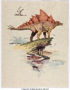 William Stout - Stegosaurus Illustration Original Art (2005)
