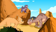 Littlefoot, Chomper and Cera from the Land before Time