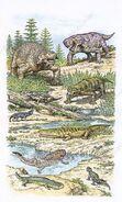 C0374798-Permian fauna, illustration