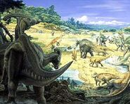 Hadrosaurs-on-field