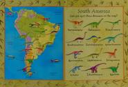 South American Dinosaur Map