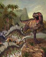 Tyranosaurus Rex and Stegosaurus