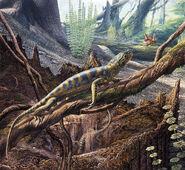 C0354170-Hylonomus reptile, illustration