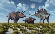 A-triceratops-ankylosaurus-mark-stevenson