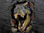 T-Rex Through Wall