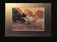 Original Disney Fantasia 1940 Dinosaurs Rite of Spring Animation Cel 3