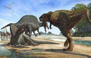 Carcharodontosaurus vs Spinosaurus