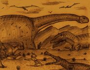 Dinosaurs in Land of Giants