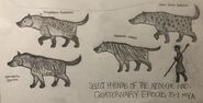 Procession of prehistoric hyenas by kumarkiranb356 dd39nqs