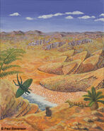 Late triassic scene