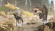 Sirindhorna being chased by Siamraptor