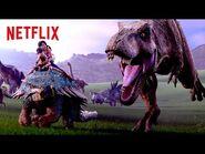 DINO STAMPEDE! - Jurassic World Camp Cretaceous - Netflix Futures