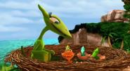 Гнездо птеранодонов