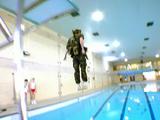 Battle swimming test