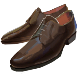 Shoes fancy loafer brown.png