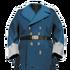 Signal-Blue Naval Coat