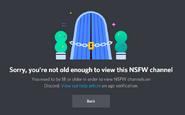 Denied NSFW Channels