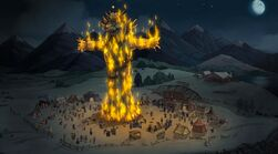 Flaming zog effigy - harvest moon