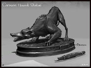 Concept art hound statue