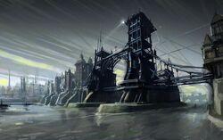 640px-Dunwall bridge concept art by Viktor Antonov