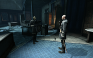 The surge, hume talks to an overseer