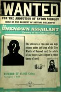 Unknown assailant wanted poster