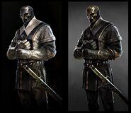 Концепт-арт Смотрителей в Dishonored 2