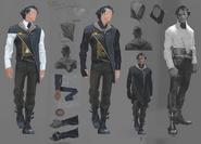 Корво - концепт Dishonored 2 (одежда)