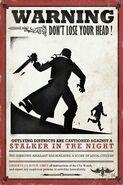 Плакат о розыске - призрак