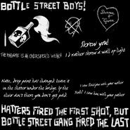 Графити банды Боттл